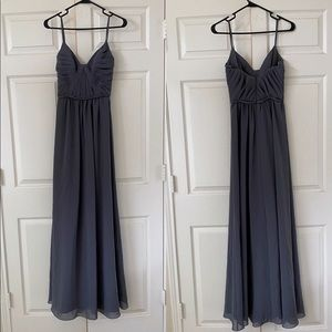 Gray grey formal dress